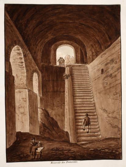 The Praetorian Reservoir, 1833-Agostino Tofanelli-Giclee Print