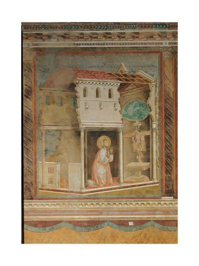 The Prayer Before the Crucifix of St Damian-Giotto di Bondone-Giclee Print