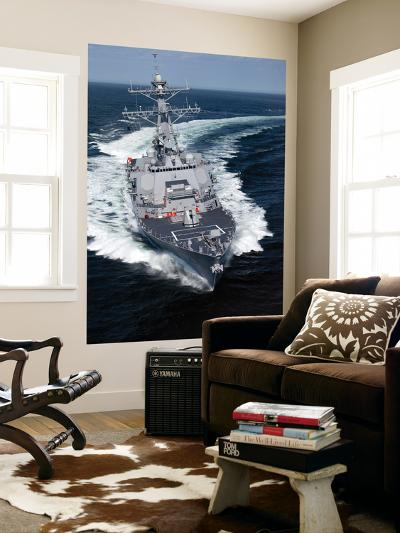 The Pre-Commissioning Unit Jason Dunham Conducts Sea Trials in the Atlantic Ocean-Stocktrek Images-Wall Mural