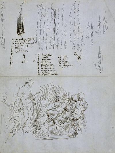 The Preaching of Saint John the Baptist, 1858-Jean-Baptiste Carpeaux-Giclee Print
