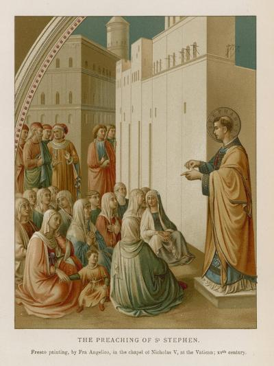 The Preaching of St Stephen--Giclee Print