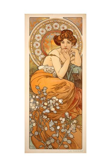 The Precious Stones Topaz 1900 Giclee Print By Alphonse Mucha Art