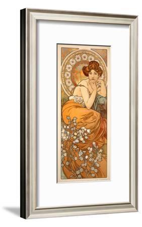 The Precious Stones: Topaz, 1900-Alphonse Mucha-Framed Giclee Print