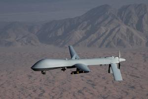 The Predator Drone Carrying Hellfire Missiles in Flight, Dec. 16, 2008