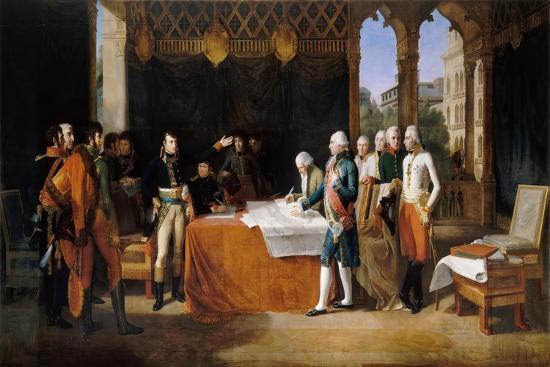The Preliminaries of Leoben, 17th April 1797-Guillaume Guillon Lethi?re-Giclee Print