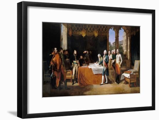 The Preliminaries of Leoben, 17th April 1797-Guillaume Guillon Lethiére-Framed Giclee Print