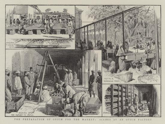 The Preparation of Opium for the Market, Scenes at an Opium Factory--Giclee Print