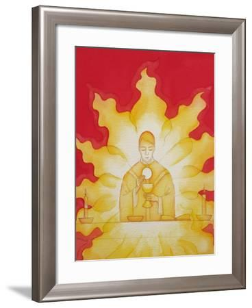 The Presence of Jesus Christ in the Holy Eucharist Is Like a Consuming Fire, 2003-Elizabeth Wang-Framed Giclee Print