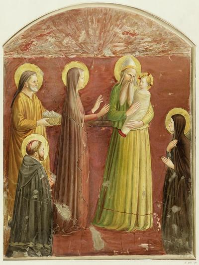 The Presentation in the Temple, from a Series of Prints Made by the Arundel Society-Fra Angelico-Giclee Print