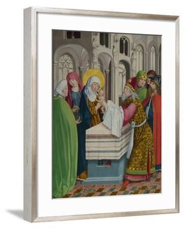 The Presentation in the Temple (The Liesborn Altarpiec), Ca. 1470-1480--Framed Giclee Print