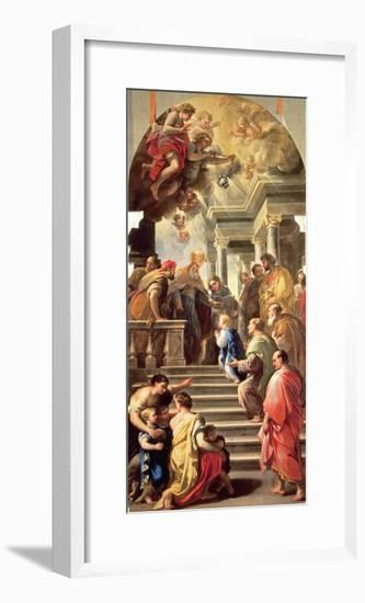 The Presentation of the Virgin at the Temple-Luca Giordano-Framed Giclee Print