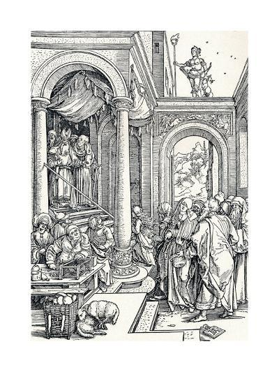 The Presentation of the Virgin in the Temple, 1506-Albrecht D?rer-Giclee Print