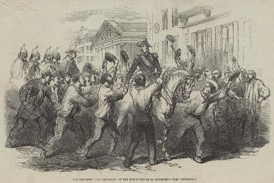 The President Louis Napoleon on the Boulevard De La Madeleine--Giclee Print
