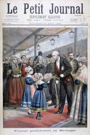 The President of the French Republic Visiting Brittany, 1896--Giclee Print