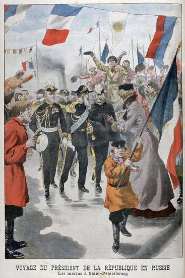 The President of the Republic of France Visiting St Petersburg, Russia, 1902--Giclee Print