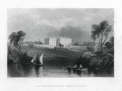 The Presidents House, from the River. C1820-1850--Giclee Print