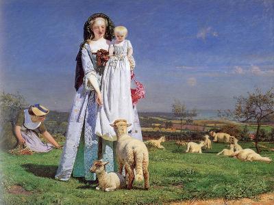 The Pretty Baa-Lambs, 1859-Ford Madox Brown-Giclee Print