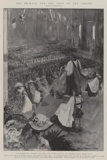 The Primate and the Sons of the Empire-Henry Charles Seppings Wright-Giclee Print