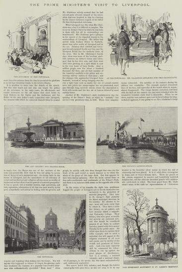The Prime Minister's Visit to Liverpool--Giclee Print