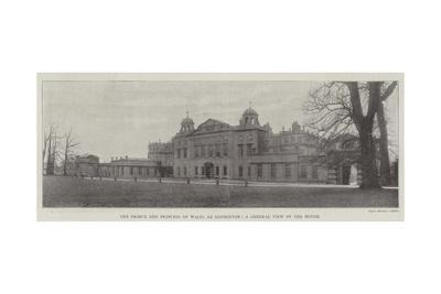 The Prince and Princess of Wales at Badminton, a General View of the House--Giclee Print