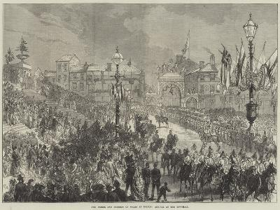 The Prince and Princess of Wales at Bolton, Arrival at the Townhall--Giclee Print