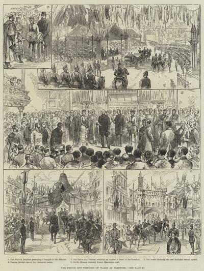The Prince and Princess of Wales at Bradford--Giclee Print