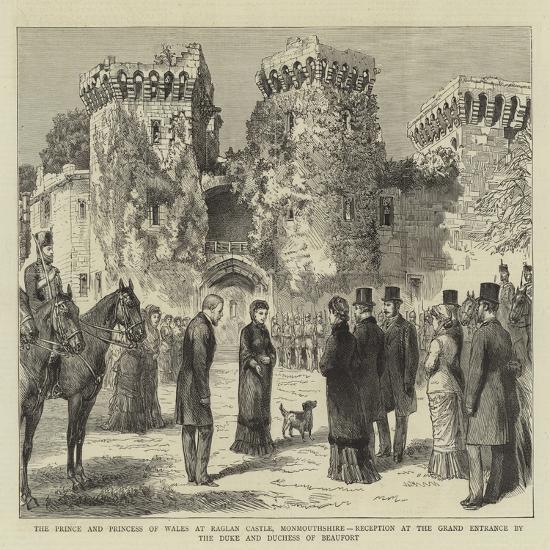 The Prince and Princess of Wales at Raglan Castle--Giclee Print