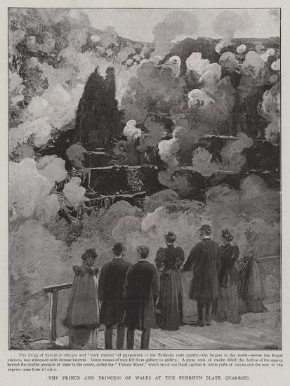 The Prince and Princess of Wales at the Penrhyn Slate Quarries--Giclee Print