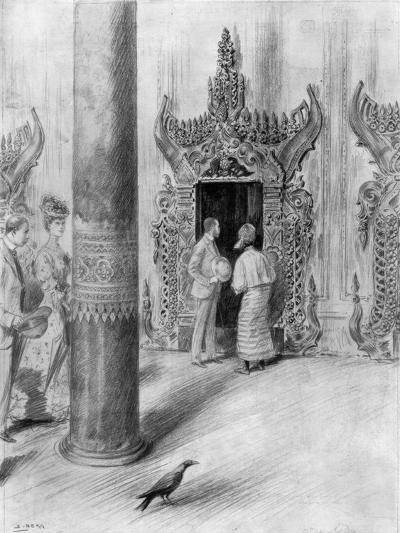 The Prince and Princess of Wales in King Theebaw's Palace, Mandalay, Burma, 1906-Samuel Begg-Giclee Print