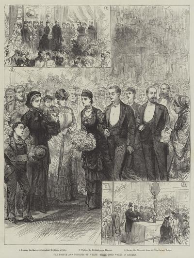 The Prince and Princess of Wales, their Good Works in London--Giclee Print
