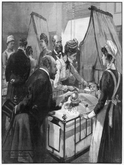 The Prince and Princess of Wales Visiting the Eveline Hospital for Sick Children, 1890-Wilson-Giclee Print