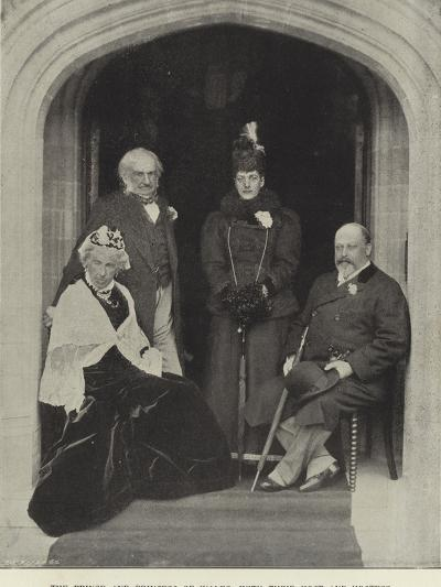 The Prince and Princess of Wales, with their Host and Hostess, at Hawarden Castle, May 1897--Photographic Print