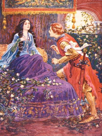 The Prince Awakens the Sleeping Beauty, Illustration for 'Children's Stories from Tennyson' by…-Gordon Frederick Browne-Giclee Print