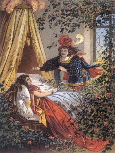 The Prince Discovers the Sleeping Princess- Jouvet-Giclee Print