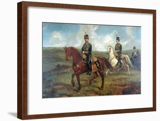 The Prince of Wales (1841-1910) with Lieutenant Colonel Valentine Baker Reviewing the 10th Hussars-Sir Francis Grant-Framed Giclee Print
