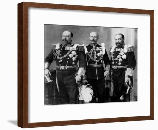 The Prince of Wales and His Brothers at the Wedding of the Duke of York, 6th July 1893-W&d Downey-Framed Giclee Print