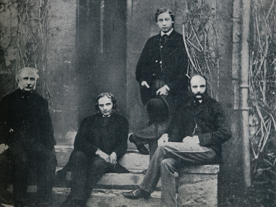 The Prince of Wales and his tutors at Oxford University, c1860 (1910)-Unknown-Photographic Print