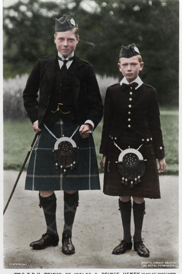 The Prince of Wales and Prince Henry, c1910(?)-Ernest Brooks-Photographic Print