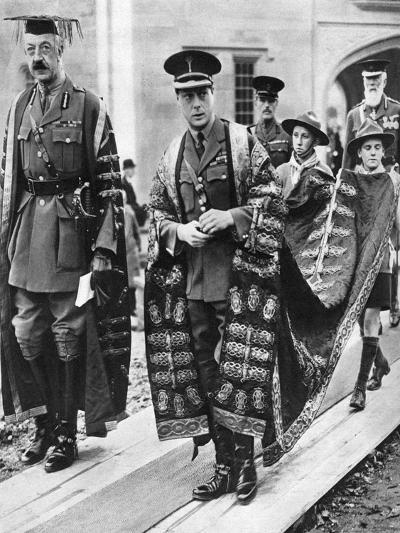 The Prince of Wales as Chancellor of the University of Wales, Bangor, 1923--Giclee Print