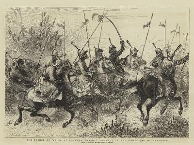 The Prince of Wales at Jummoo, Charge! Lancers of the Maharajah of Cashmere-William John Hennessy-Giclee Print