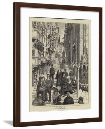The Prince of Wales at Malta, the Strada San Giovanni-Joseph Nash-Framed Giclee Print
