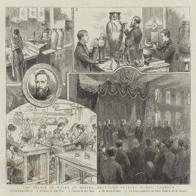 The Prince of Wales at Messrs Doulton's Pottery Works, Lambeth--Giclee Print