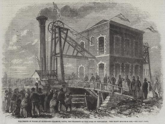 The Prince of Wales at Shireoaks Coalmine--Giclee Print