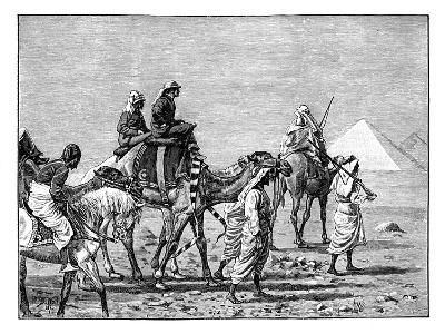 The Prince of Wales at the Pyramids, C1861--Giclee Print