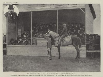The Prince of Wales at the Sale of Flying Fox at Kingsclere on 8 March-Amedee Forestier-Giclee Print