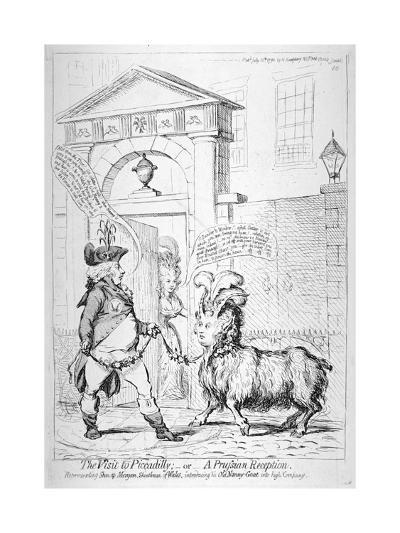 The Prince of Wales at York House, London, 1792-James Gillray-Giclee Print