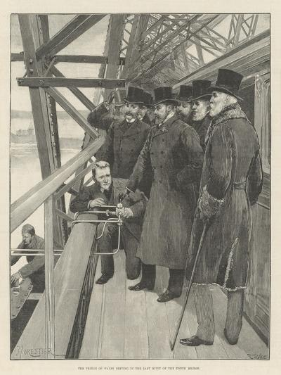The Prince of Wales Driving in the Last Rivet of the Forth Bridge-Amedee Forestier-Giclee Print