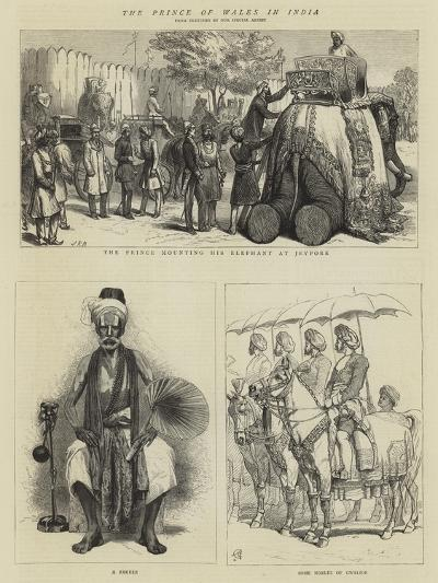 The Prince of Wales in India--Giclee Print