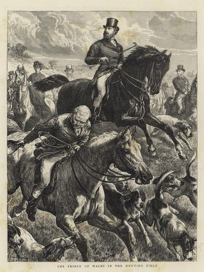 The Prince of Wales in the Hunting Field-Basil Bradley-Giclee Print