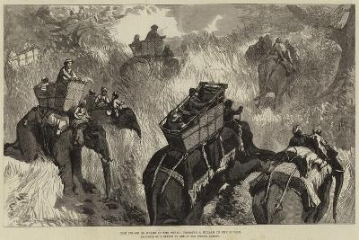 The Prince of Wales in the Terai, Crossing a Nullah in the Jungle--Giclee Print
